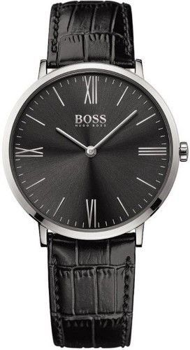 4870d0b9046 HUGO BOSS Jackson 1513369 Black Black Leather Analog Quartz Men s Watch