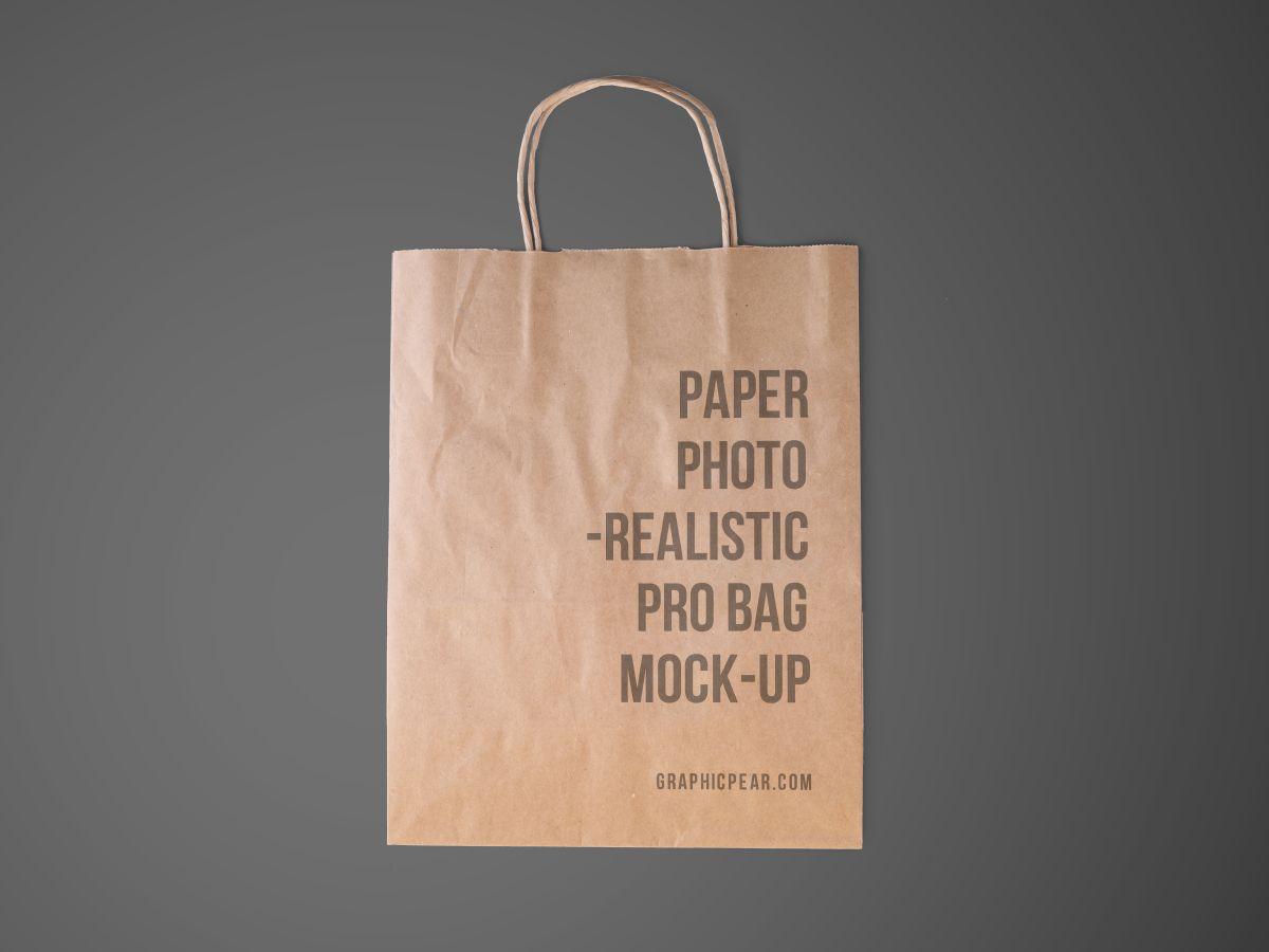 Download Disposable Paper Bag Mockup Bag Mockup Paper Bag Mockup