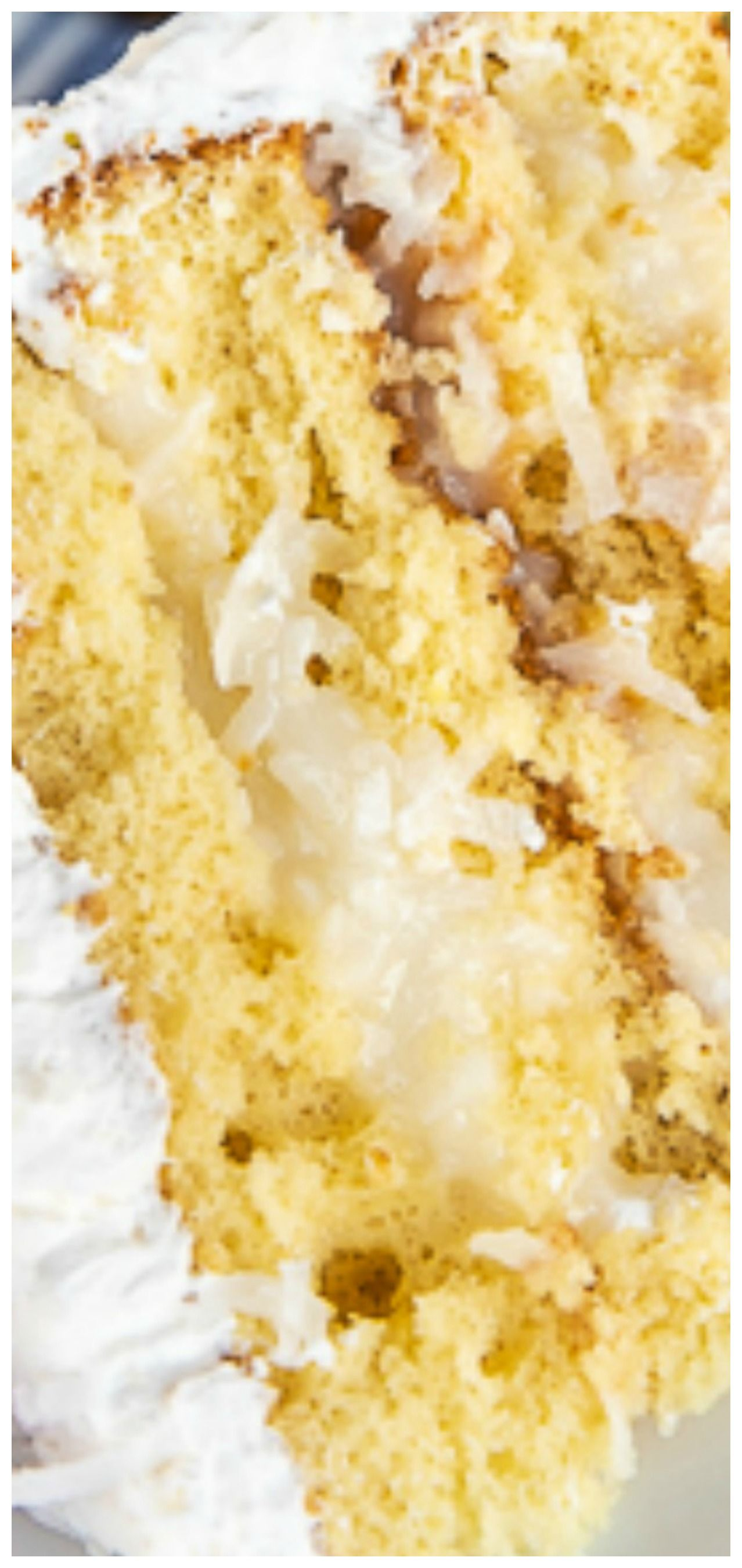 Coconut cake amazing so easy to make and everyone