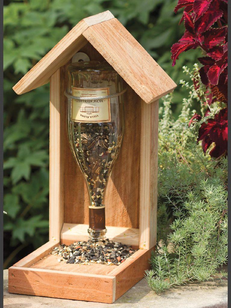 Ideas For The Reuse Or Repurposing Of Wine Bottles şarap şişesinden Elişi Kuş Yemlikleri Ahşap Işleme Planları
