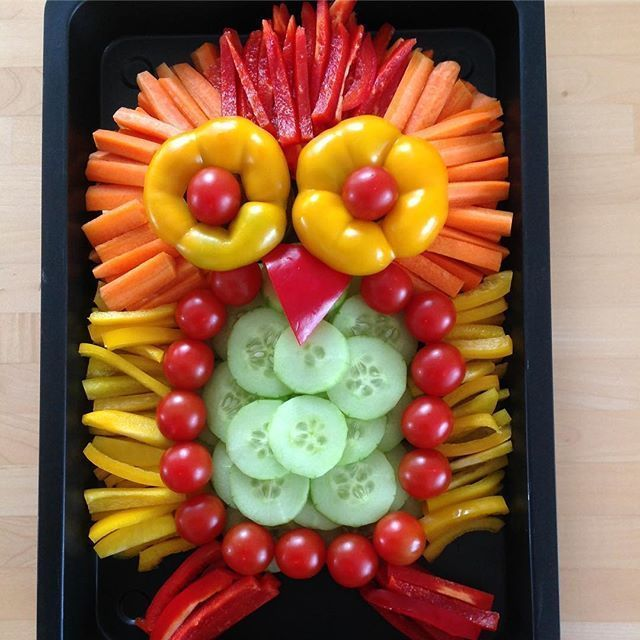 #halloweengemüse Statt Schoko-Osterhase gibt es Gemüse-Eule  #eule  #fitness  #fitnessfood  #gemüses...