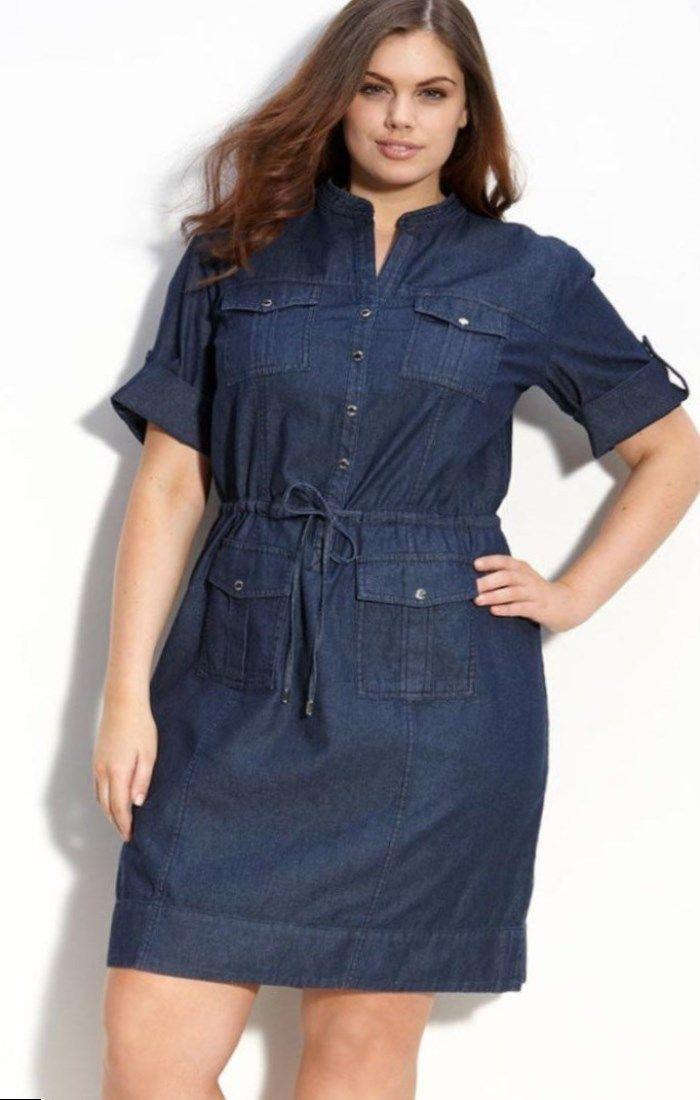 Jean dresses plus size. | Womens denim dress, Plus size ...