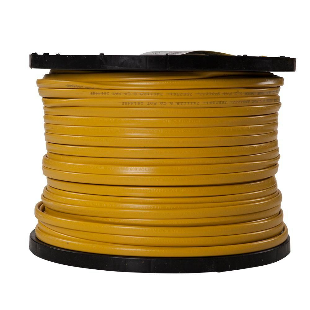 Southwire 1000 Ft 12 3 Solid Romex Simpull Cu Nm B W G Wire 63947601 The Home Depot Wire House Wiring Cable Tray