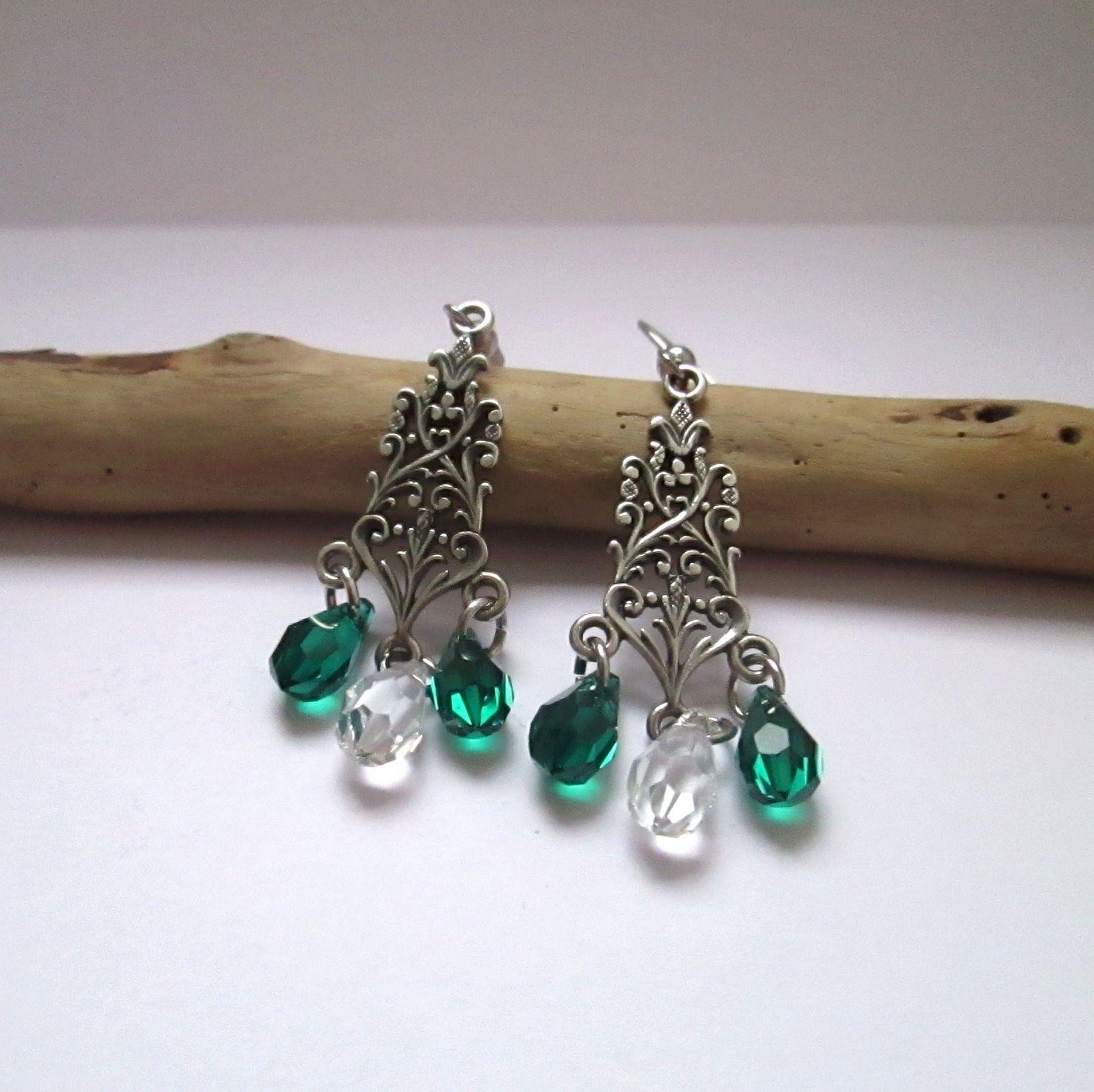 """""""Forest"""", chandelier earrings"""