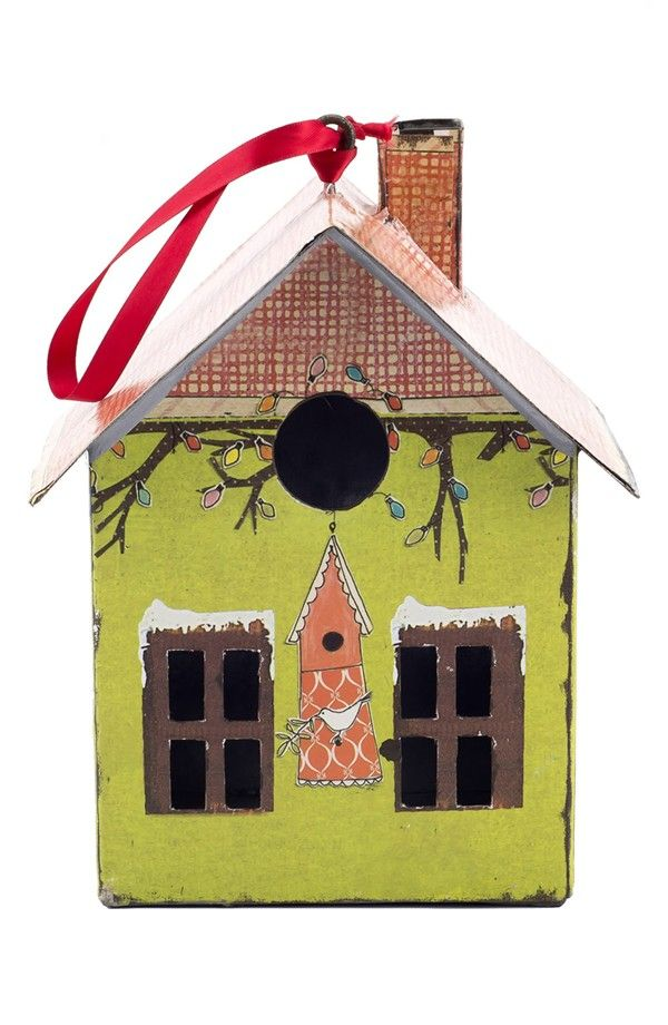 CREATIVE CO-OP Tin House Ornament | House ornaments, Tin ...