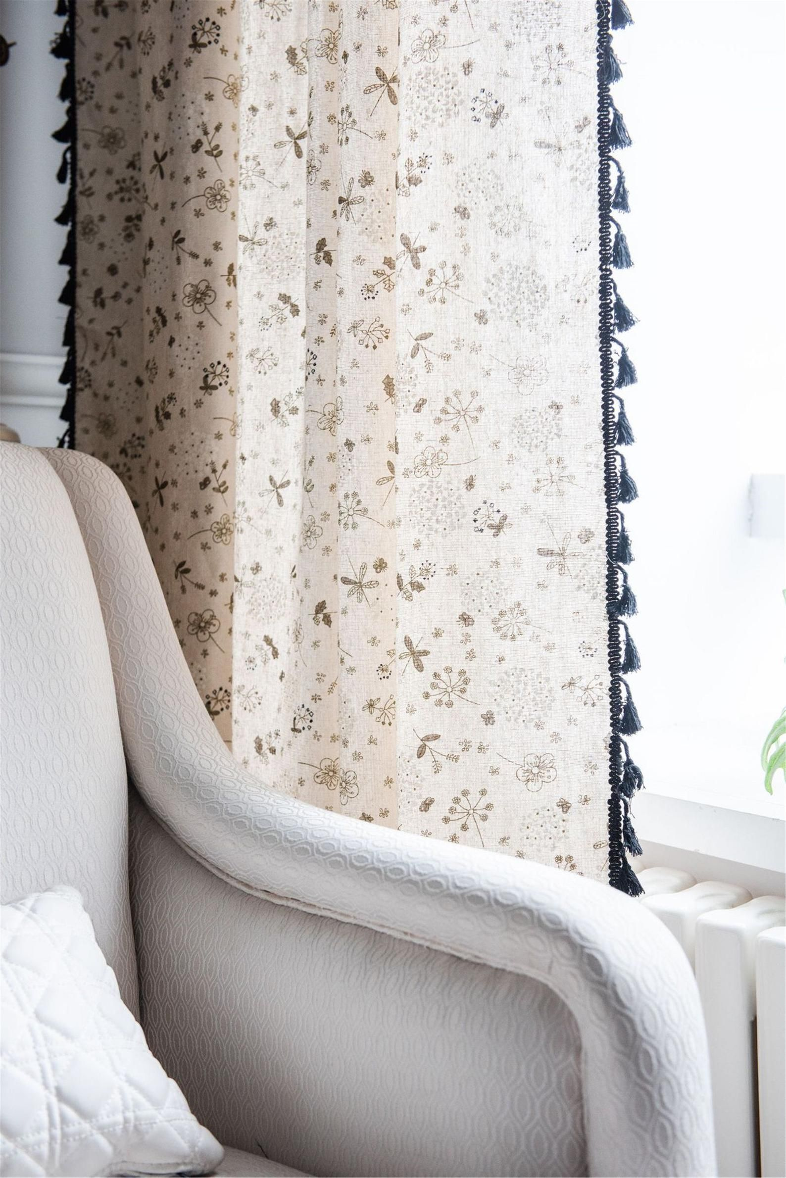 Cute Dandelion Curtains For Living Room For Bedroom For Etsy Curtains Living Room Curtains Living Room Kitchen Sheer cafe curtains for living room