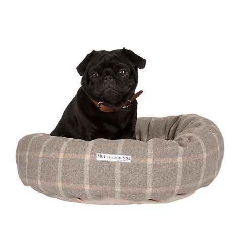 Buy Mutts Hounds Slate Tweed Donut Dog Bed Online At Johnlewis