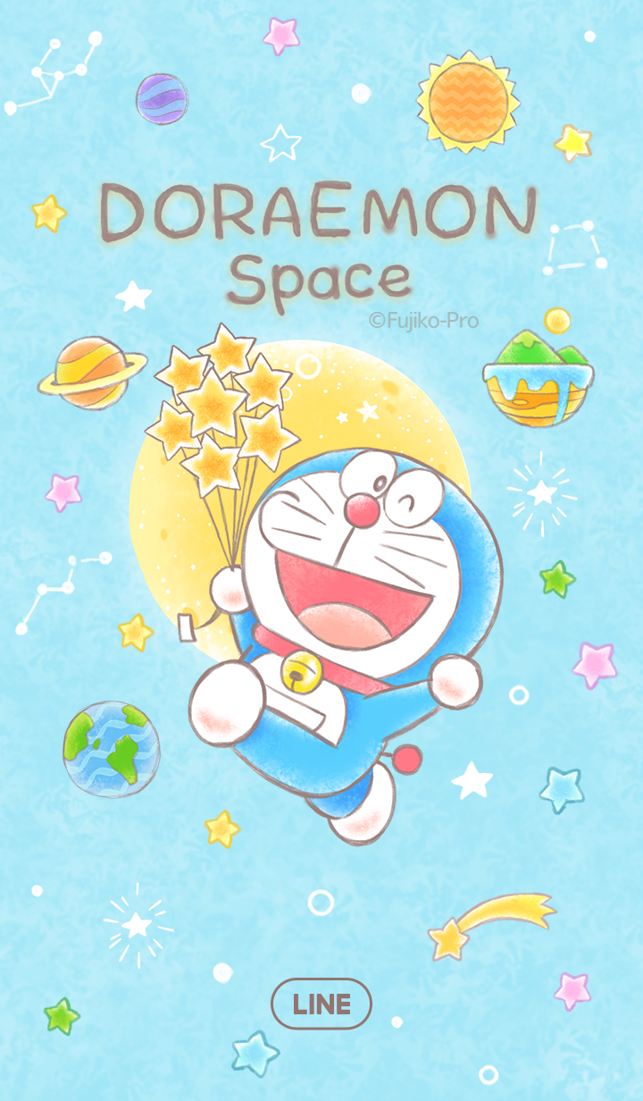LINE Themes - Doraemon (Space)