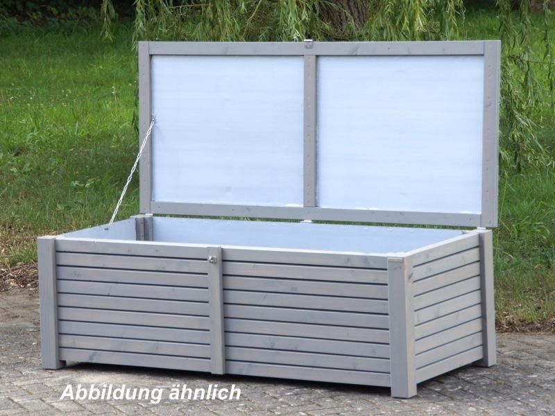 auflagenbox kissenbox holz l wasserdicht atmungsaktiv oberfl che transparent grau made. Black Bedroom Furniture Sets. Home Design Ideas