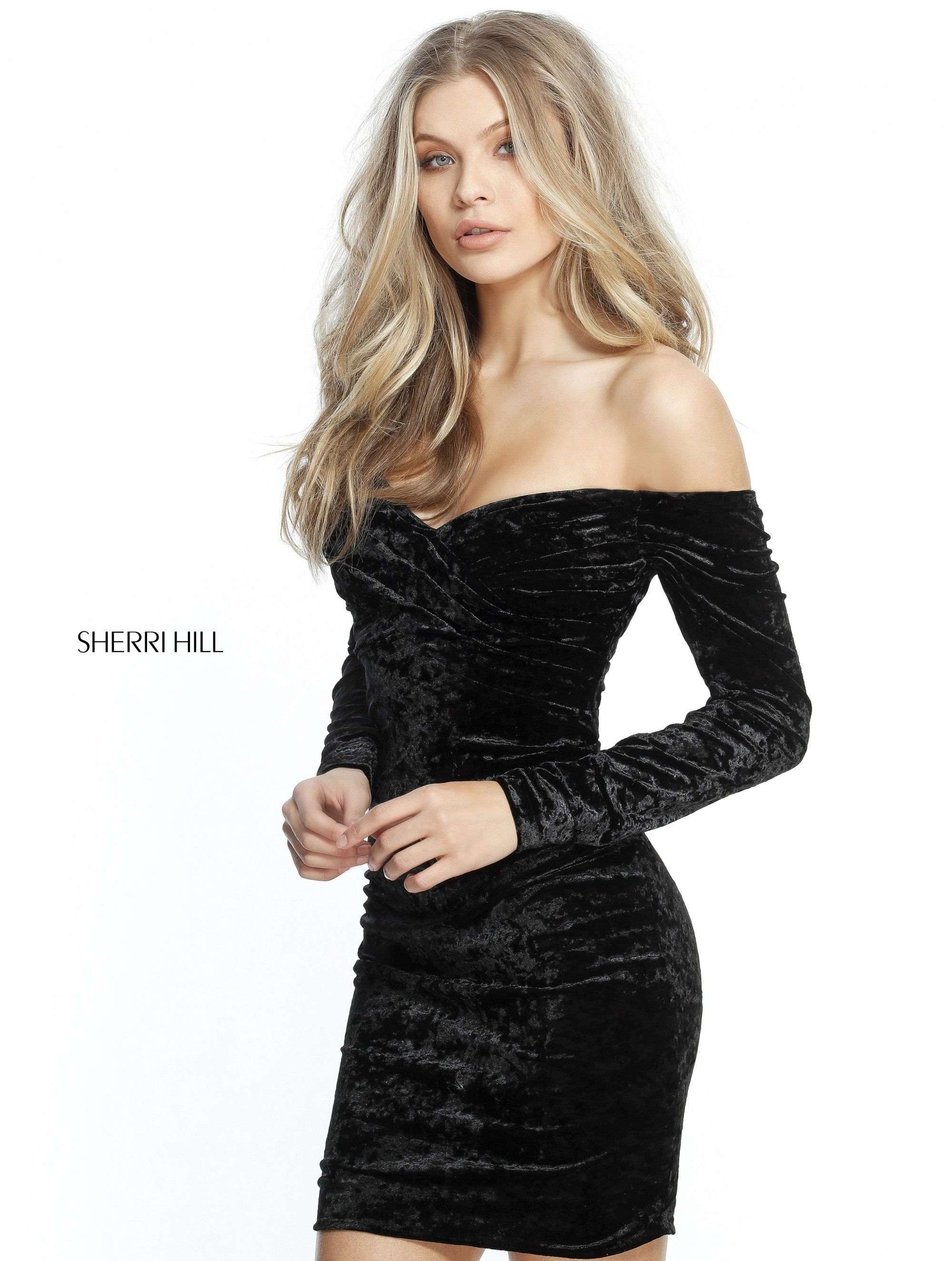 4ce368d196f This steamy crushed velvet cocktail dress features a ruched bodice with an  off-the-shoulder sweetheart neckline
