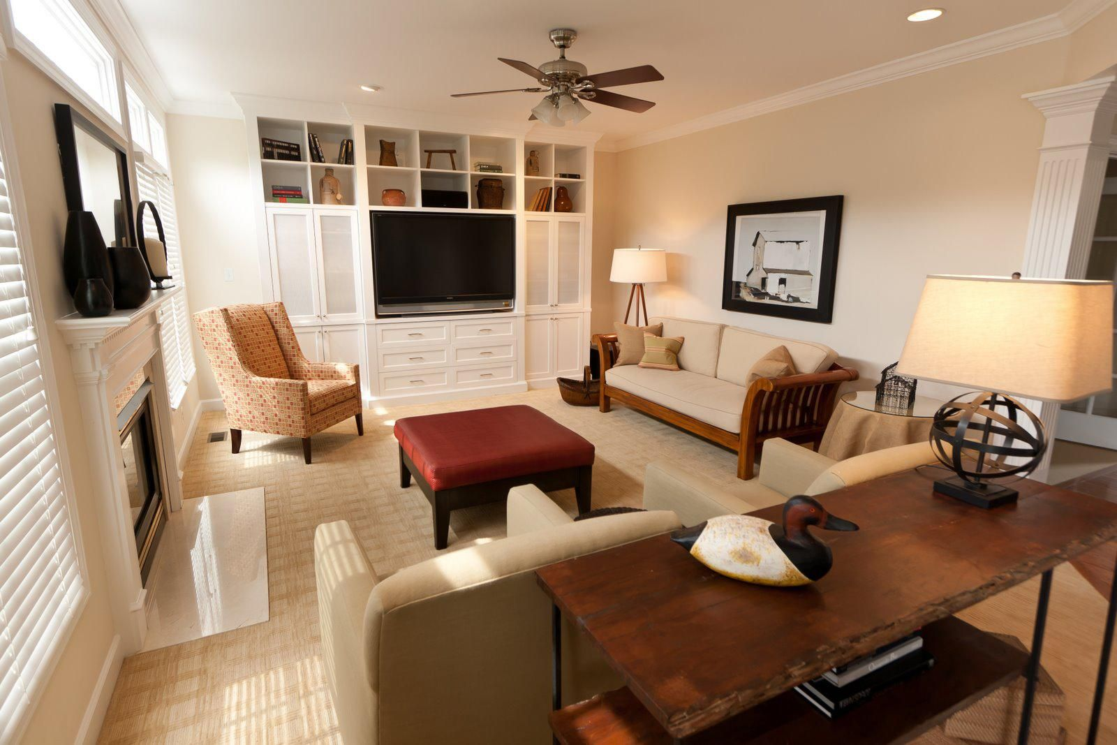 Custom built-in storage for entertainment system. (With ...