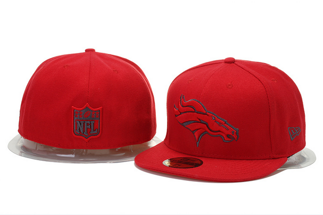 Cheap Wholesale Denver Broncos Hats New Era NFL Pop Gray Basic 59FIFTY Cap  Red… f02ea067108