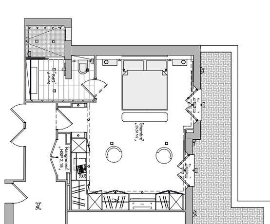 Chambre parentale suite parentale floor plans diagram et house - Plan chambre avec dressing ...