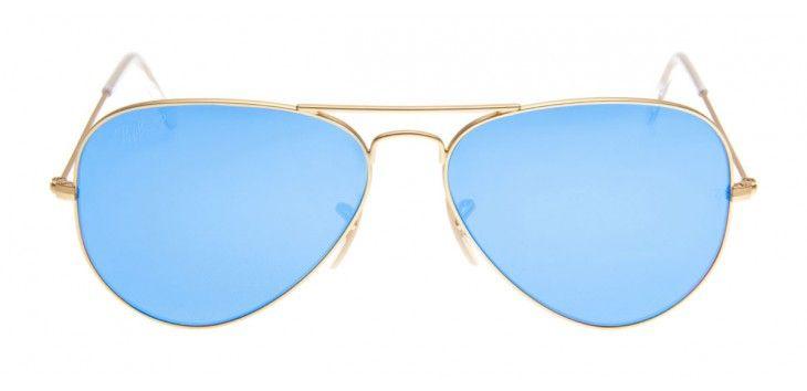 Óculos Ray-Ban RB3025 Aviador Espelhado 58 - Dourado Fosco - Polarizado 4b7d3e28c7