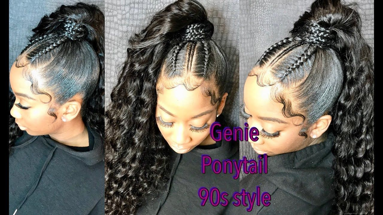 How To Do A Sleek High Genie Ponytail Extra Baby Hair Video