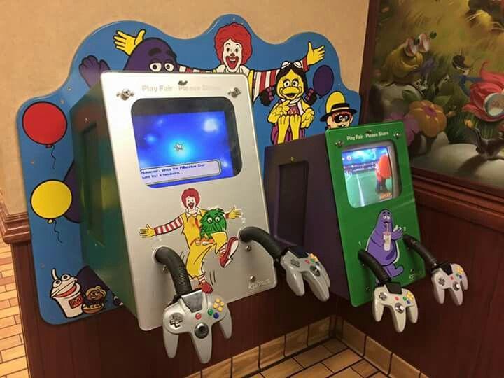 N64 at McDonald's | Nintendo 64 Video Game Console | Arcade
