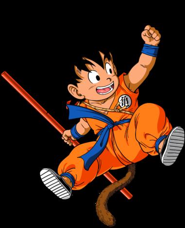 This image is the kid goku of Japanese cartoon dragon ball