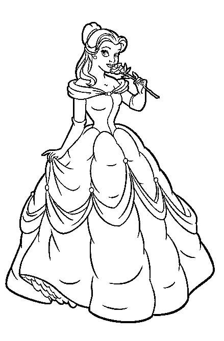 Princess Belle Head Coloring Pages Pages For Princess Belle