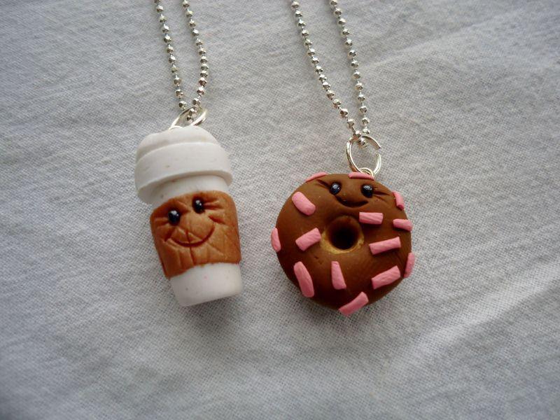 Coffe Donut Best Friends Necklaces By Artbyashligon On