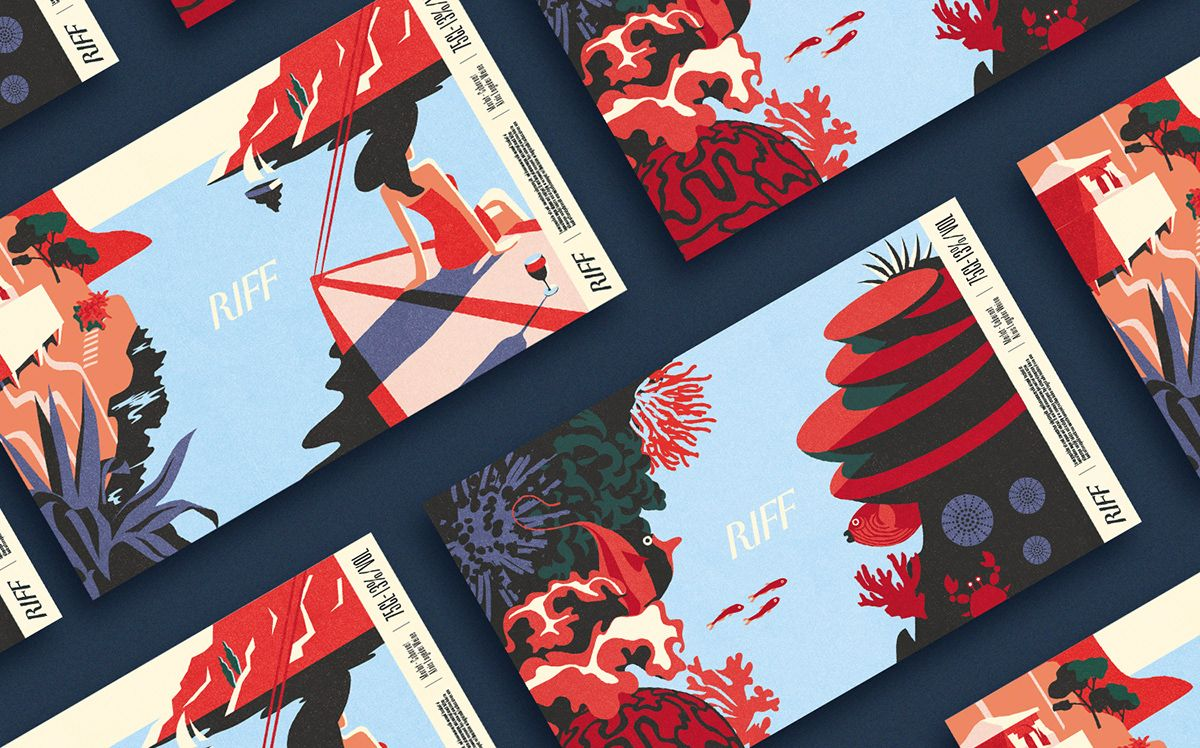 Italian Wine Label Illustrations On Student Show Wine Label Illustration Italian Wine Label Italian Wine
