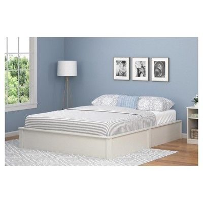 Ameriwood Home Adult Bed White | Platform bed frame and Products