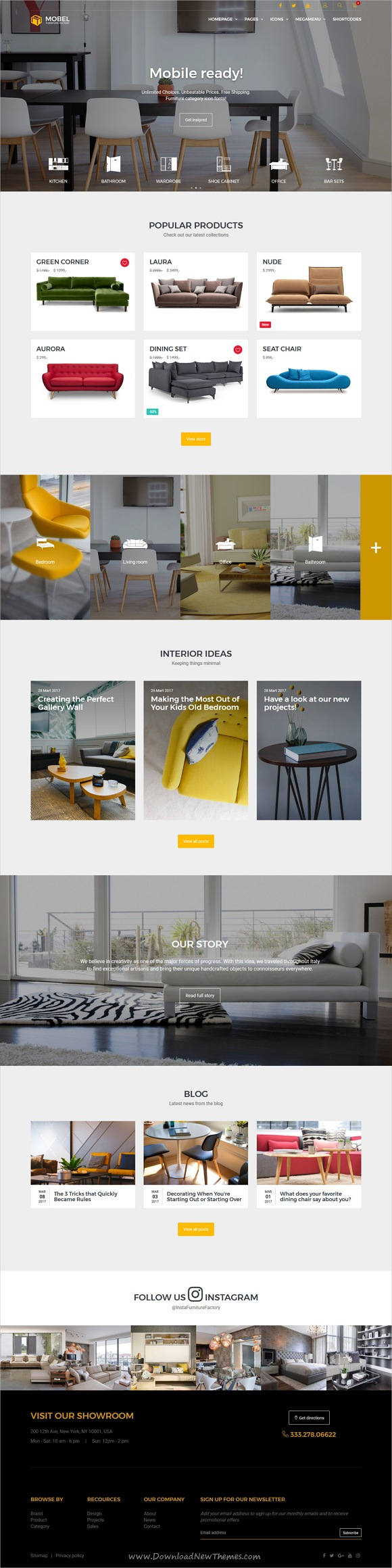 Mobel Is Clean And Modern Design Responsive #HTML Template For Stunning # Furniture And #