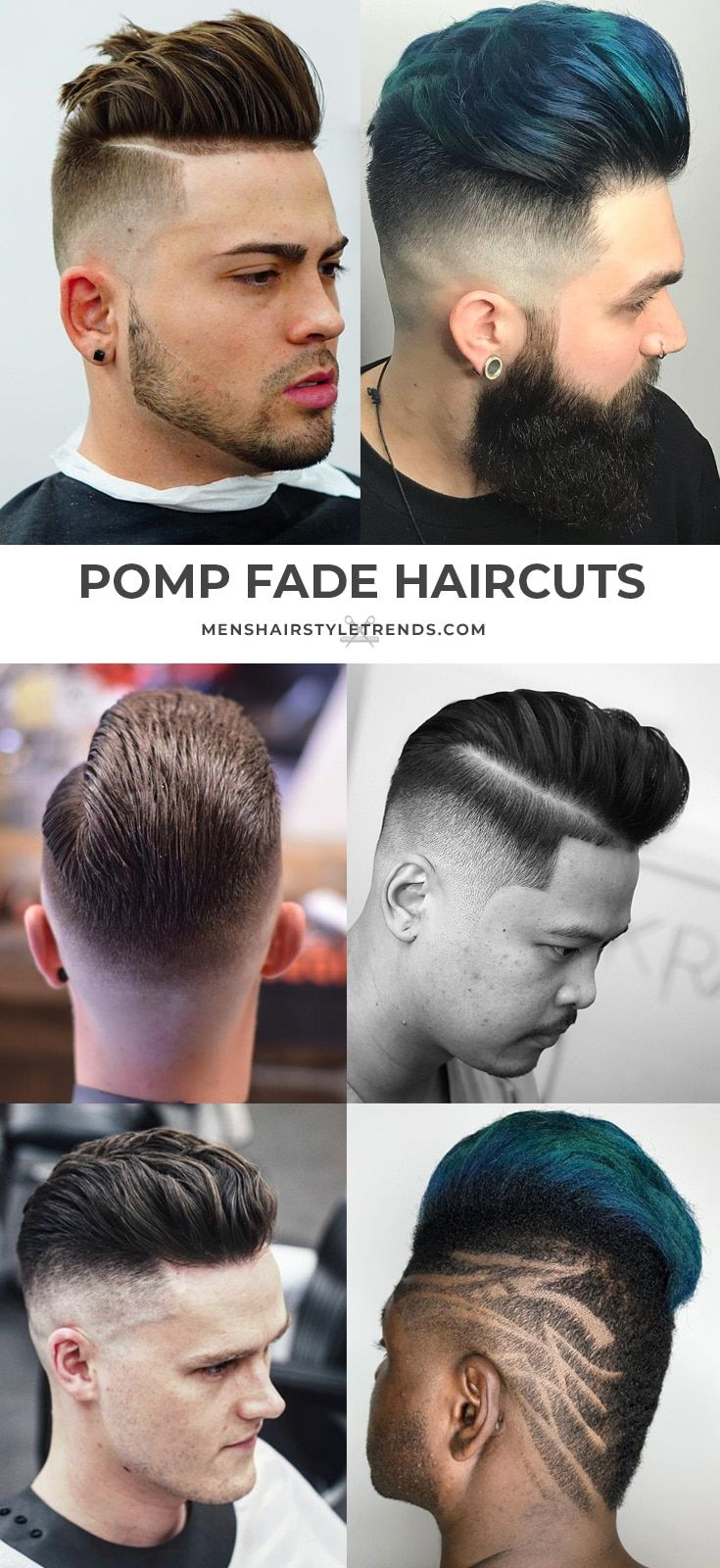 Different types of fade haircuts for men modern pompadour haircuts  hairstyles  modern pompadour haircuts