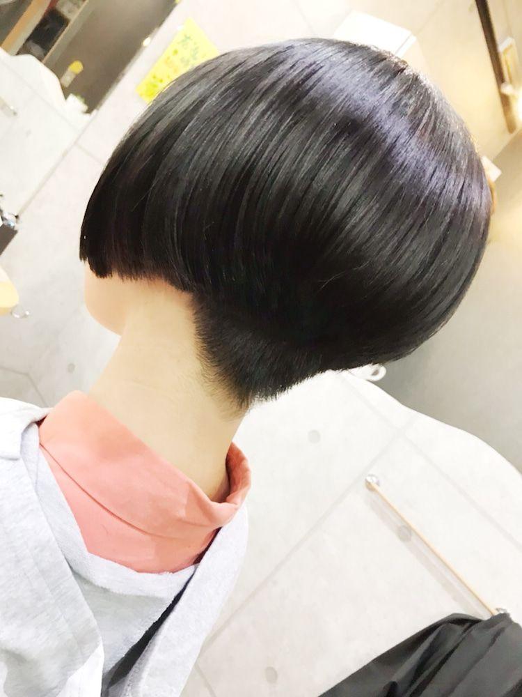 卒業前に60センチオーバー 短い髪のためのヘアスタイル ヘア
