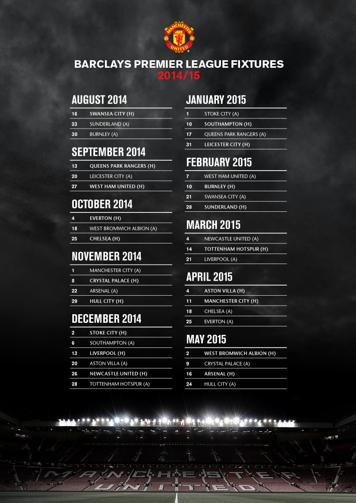 Manchester United On Twitter Manchester United Football Club Premier League Fixtures Premier League