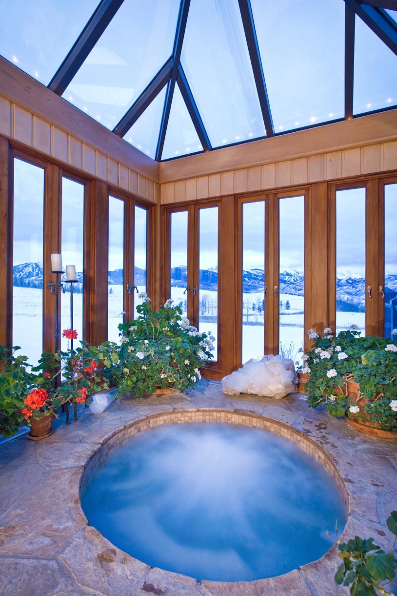 Private Hot Tub With A View At Starwood Estate Kessler Drive Aspen Colorado Luxuryretreats Indoor Hot Tub Hot Tub Backyard Hot Tub