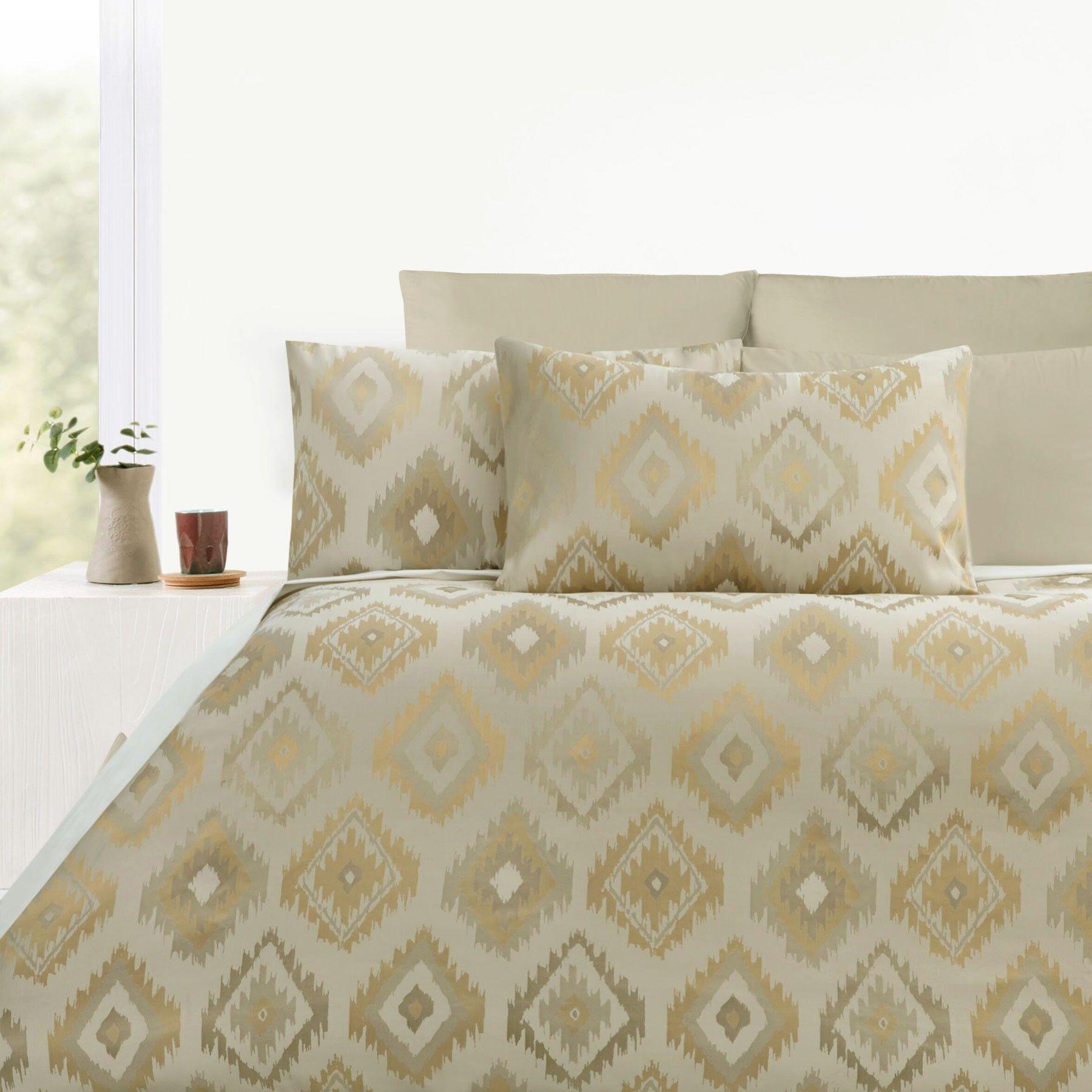 300TC Gold Geo Jacquard Quilt Cover Set by Accessorize | Quilt ... : jacquard quilt - Adamdwight.com