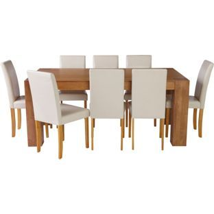Living Marlow Dining Table And 8 Midback Cream Chairs From Alluring Dining Room Furniture Ireland Review