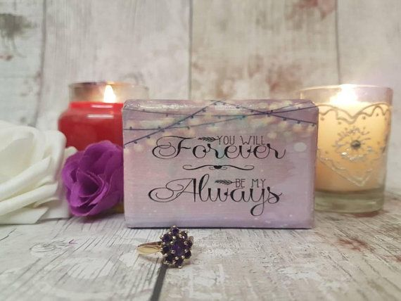 Luxury Double Ring Box Love Quote Wedding Ring Box Customised