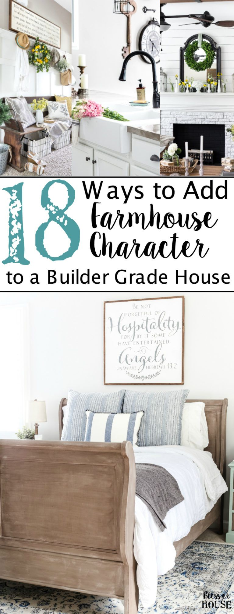 18 Ways to Add Farmhouse Character to a Builder Grade House ...