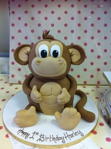 funny Monkey Cake mom can you make this for my birthday but not the