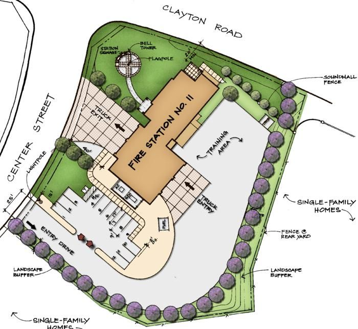 Fire Station Architectural Site Plan Google Search Fire Station Station 11 Fire Hall