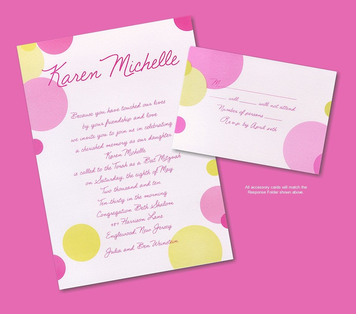 Mod Dots Bat Mitzvah Invitation