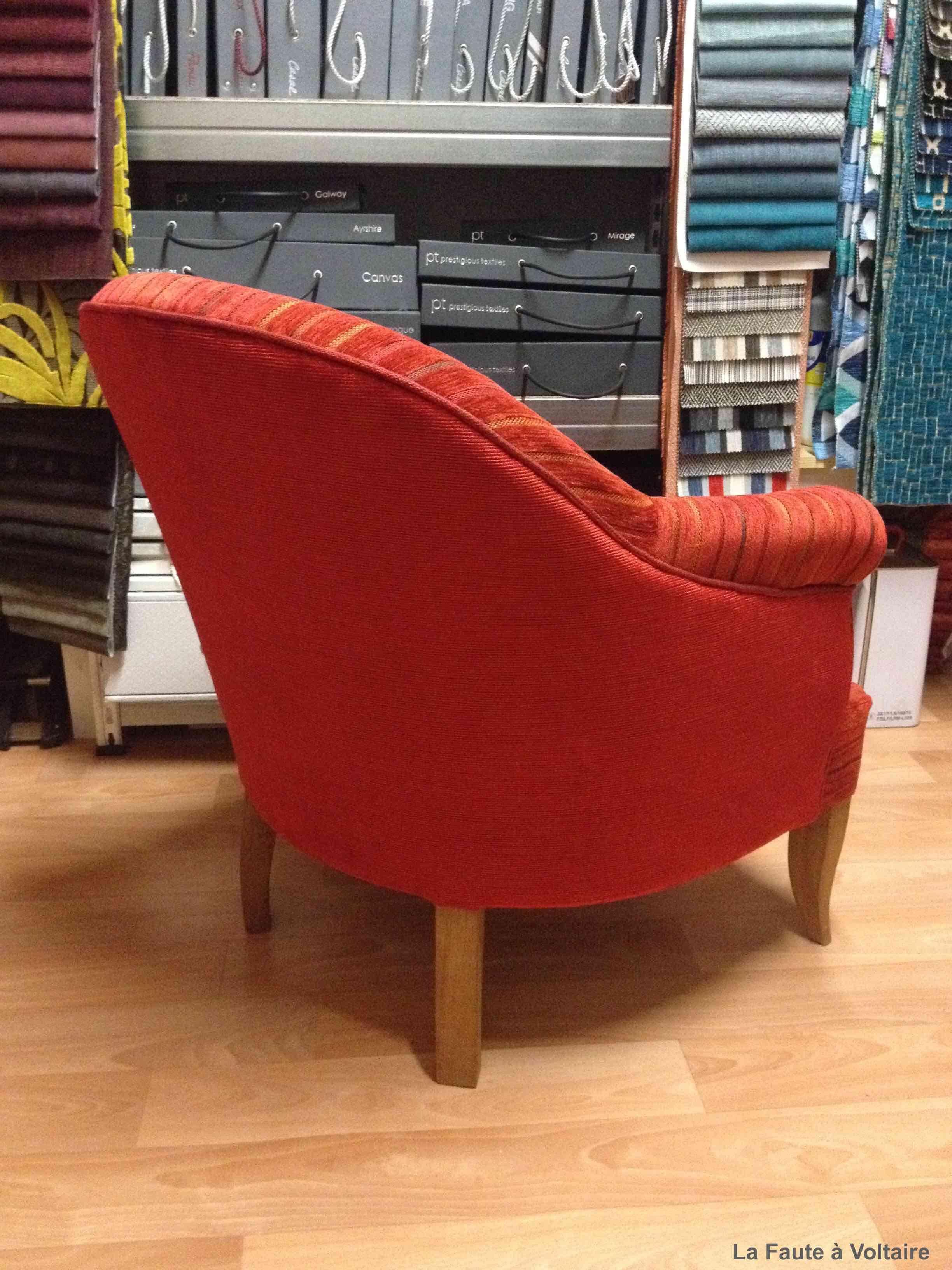 Réfection complète d\'un fauteuil crapaud à bosse. Réfection ...