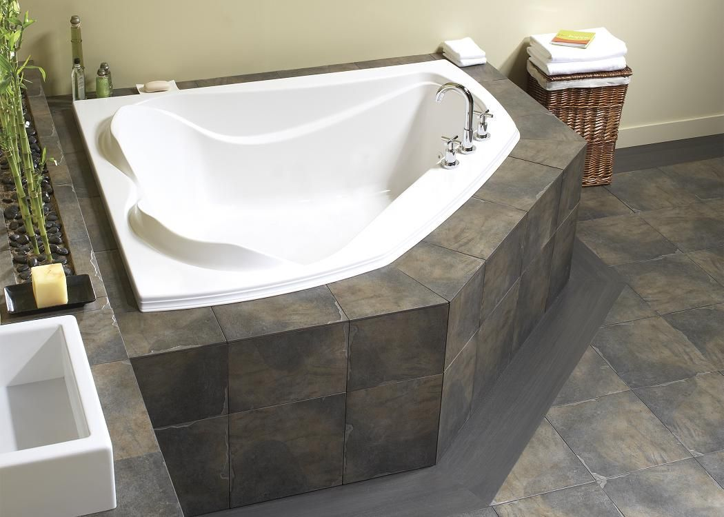 Maax Advanta Cocoon 6054 Corner Two Person Bathtub Whirlpool