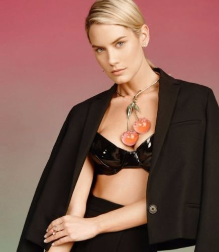 Limited Edition Alexis Bittar Lucite And Crystal Cherry Necklace