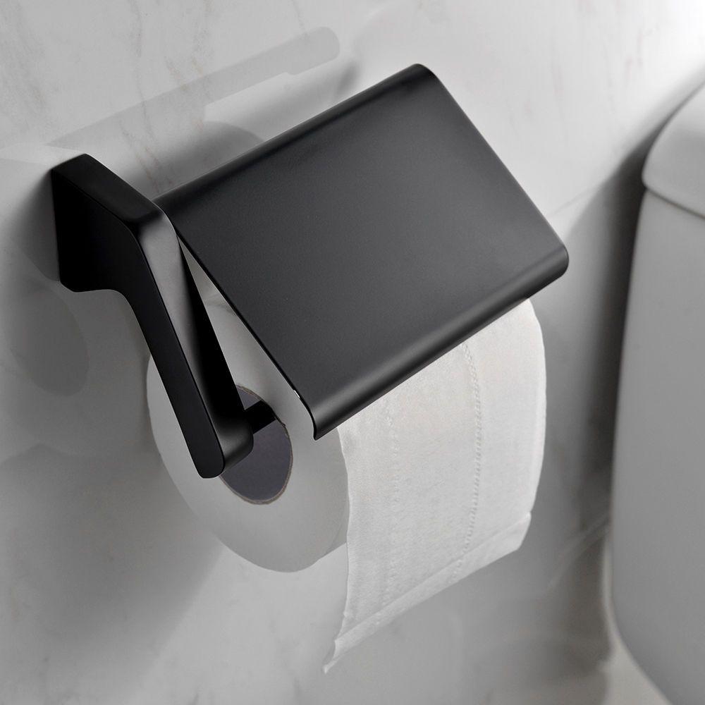 Superb Toilettenpapierhalter Klopapierhalter Rollenhalter Neu WC Papierhalter  Schwarz Nice Design