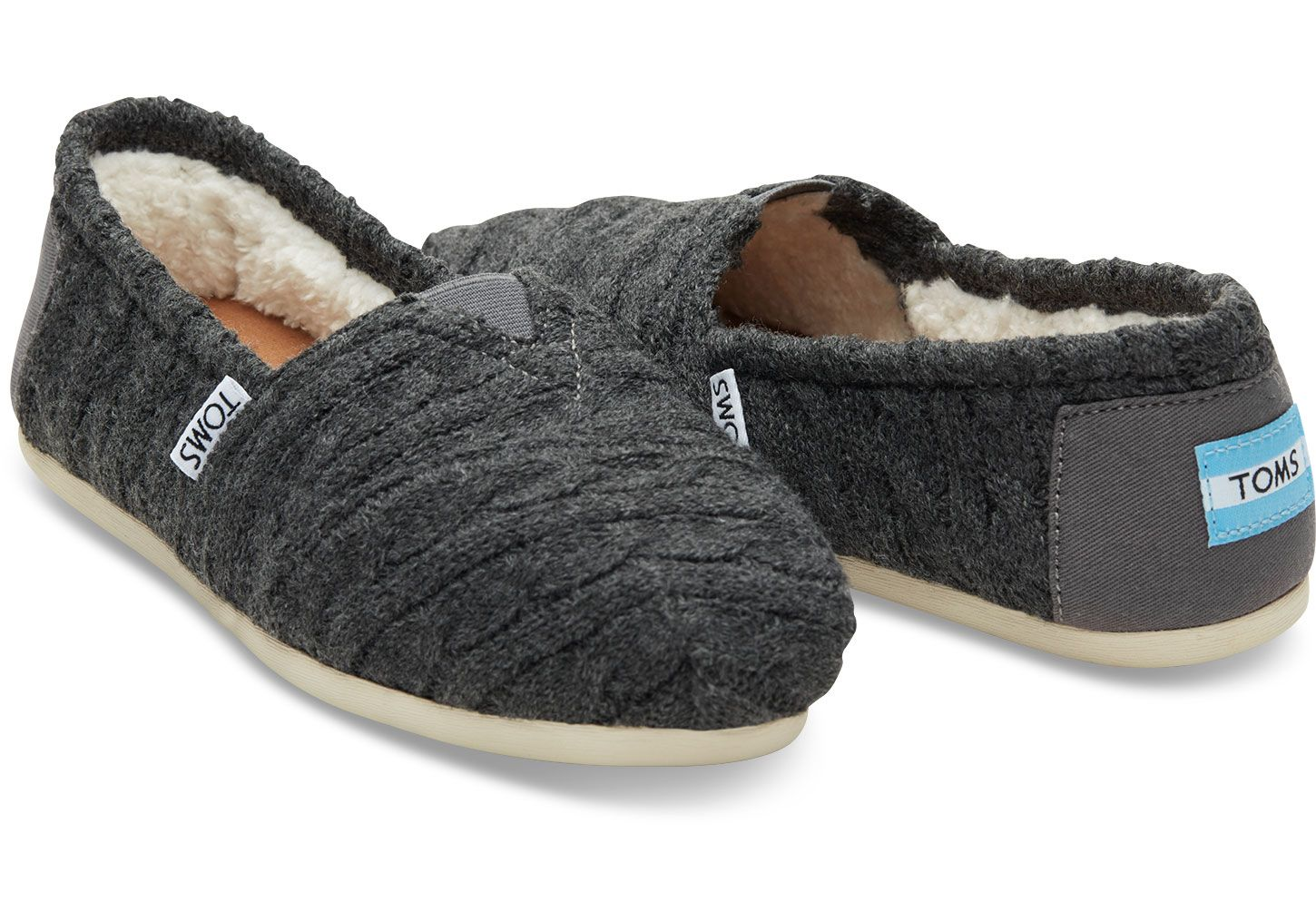 Buy Women Shoes / Toms Multi Knit Faux Shearling Slip On Trainers