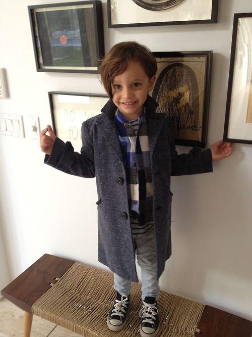 Coat, Nico Nico; Flannel, Nico Nico; Shirt, Trico Field; Jeans, Stella McCartney; Shoes, Converse