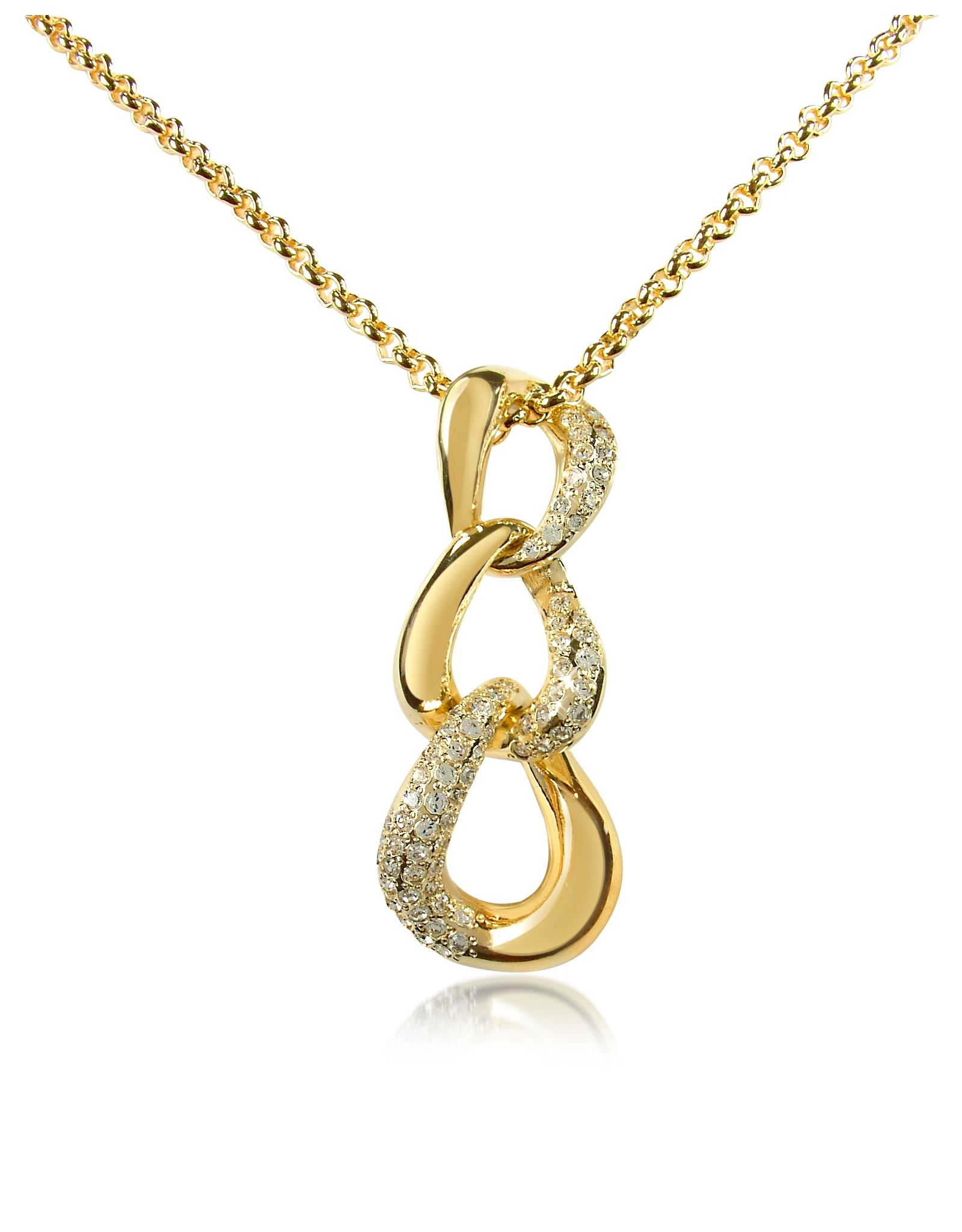 Az collectionus goldplated linear necklace features a rounded