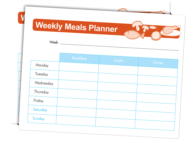 Weekly Meals Planner Use this creative planner to keep