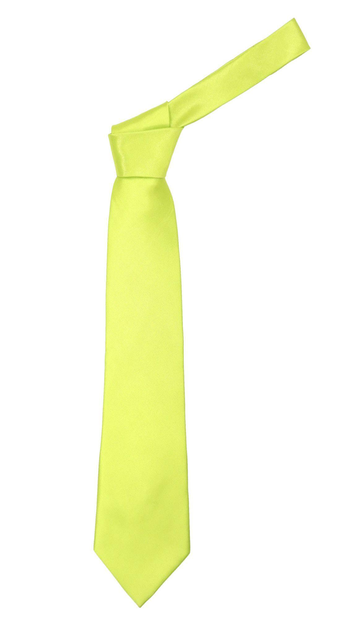 Premium Microfiber Pale Green Necktie