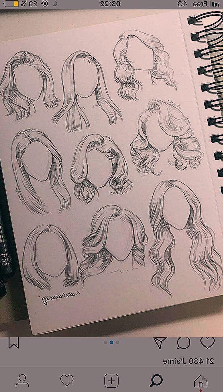 zeichnungen bleistift ideen | frisuren zeichnen, skizzen