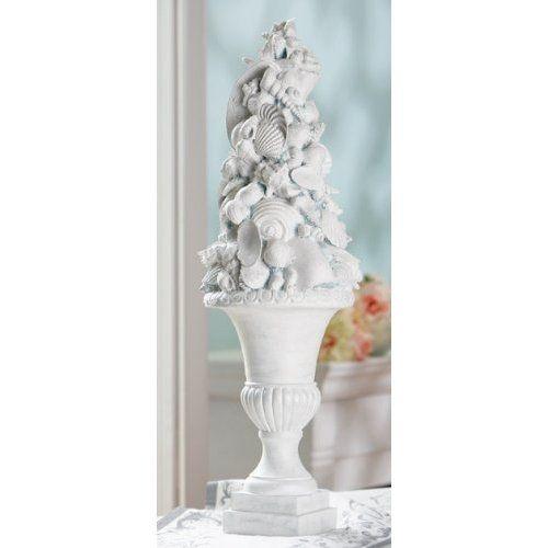 seashell Roman vase topiary sculpture
