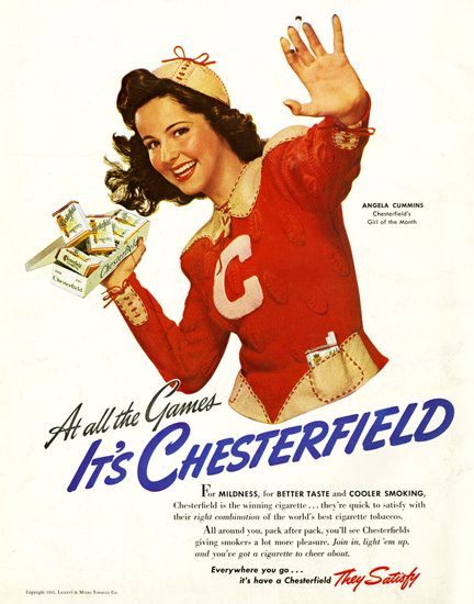 Chesterfield Cigarettes Angela Cummins 1940