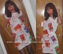Cereal killer costume with plastic knives and face makeup fall cereal killer costume with plastic knives and face makeup homemade halloween ccuart Choice Image